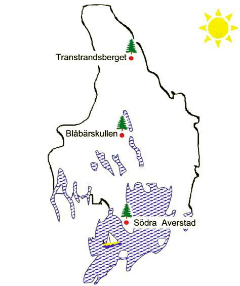 Karta över mätningar av nedfall i Värmlands län